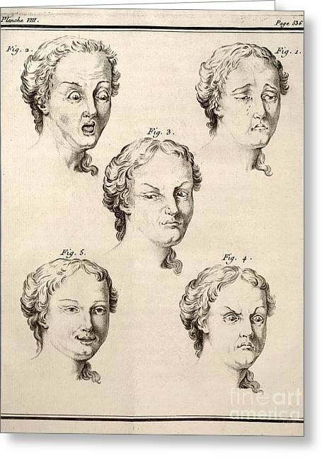 Human Emotions And Expression, 1749 Greeting Card