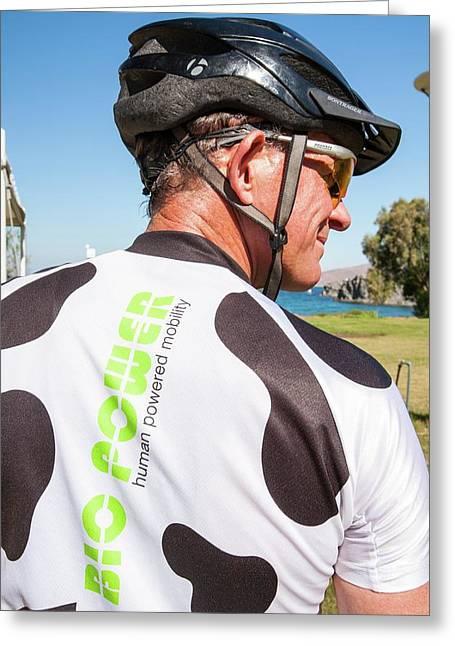 Human Powered Cycling Top Greeting Card