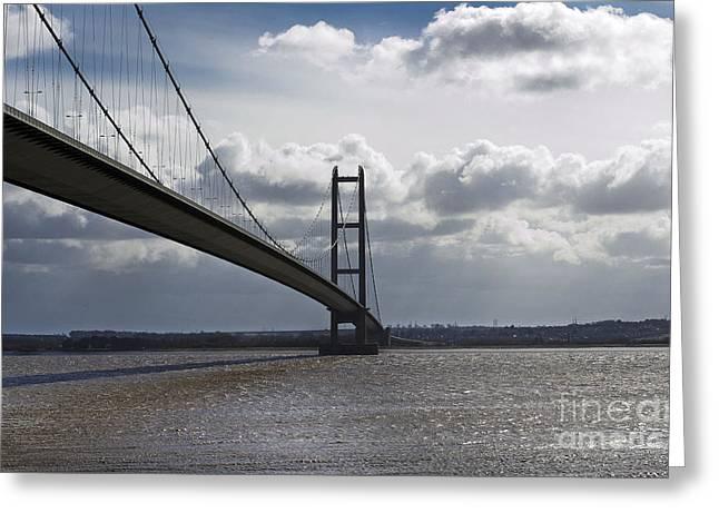 Humber Bridge. Greeting Card by Andrew Barke