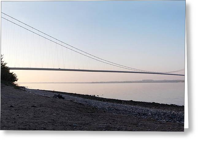 Humber Bridge Panorama Greeting Card