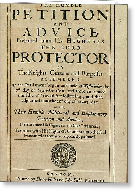 Humble Petition Greeting Card by British Library