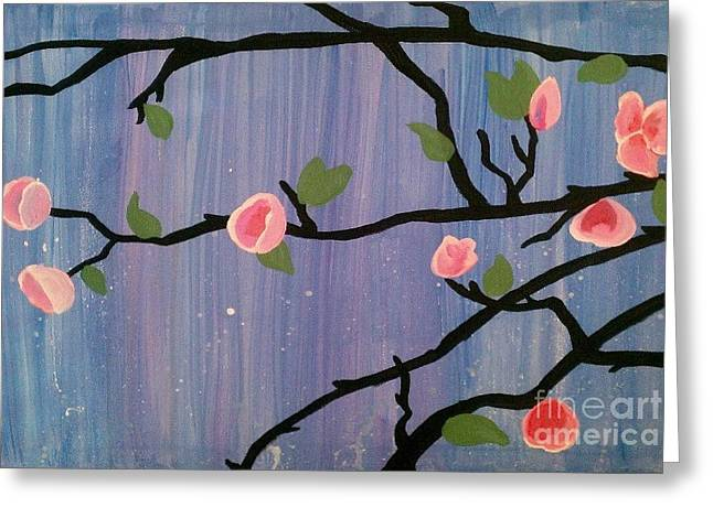 Greeting Card featuring the painting Humble Splash by Marisela Mungia