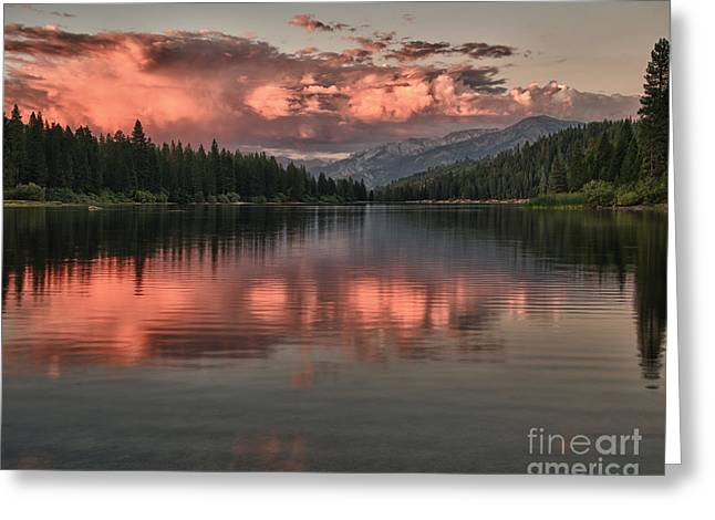 Hume Lake Sunset Greeting Card by Terry Garvin