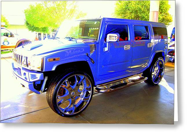 Hummer Too Blue Greeting Card