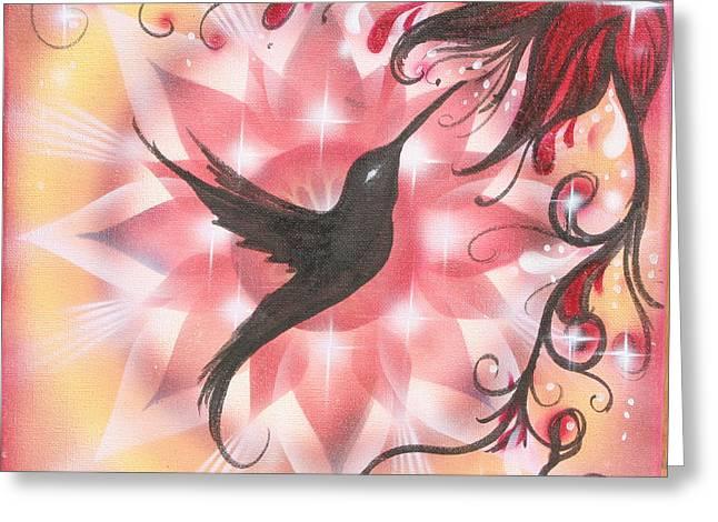Humming Greeting Card by Elizabeth Zaikowski