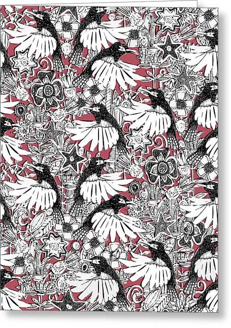 Hummingbird Heaven Rouge Greeting Card by Sharon Turner