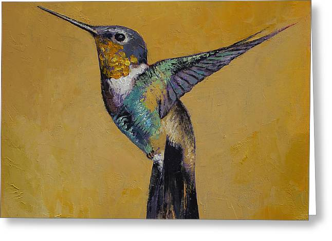Hummingbird Greeting Card by Michael Creese