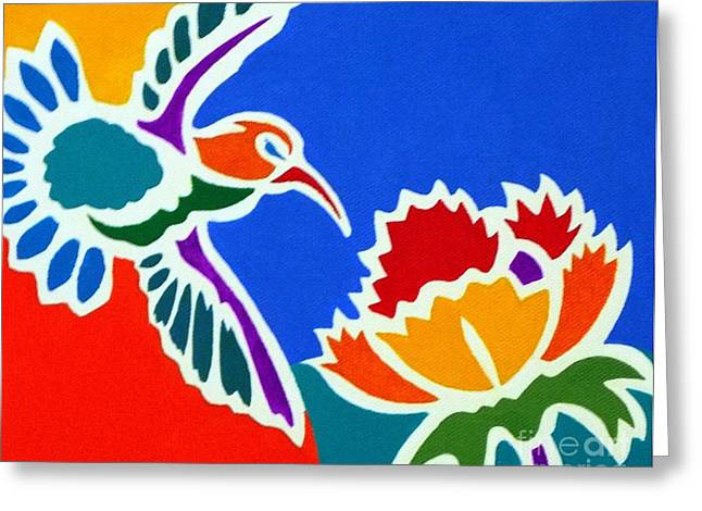 Hummingbird Number Two Greeting Card by Stephen Davis