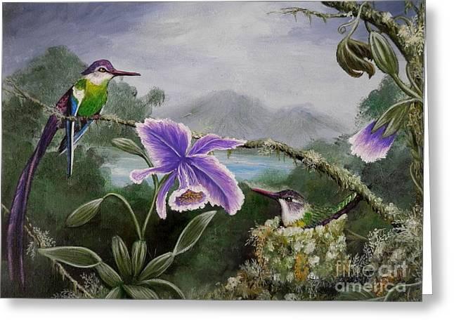 Hummingbird Paradise Greeting Card