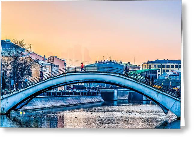 Humpback Bridge Greeting Card by Alexander Senin