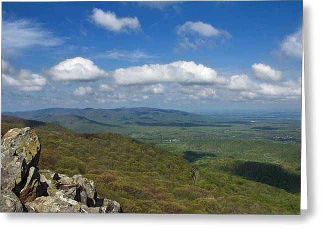 Humpback Rocks View South Greeting Card