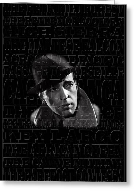 Humphrey Bogart 1 Greeting Card by Andrew Fare