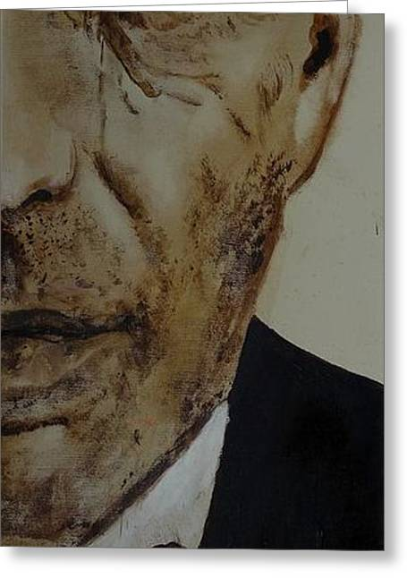 Greeting Card featuring the painting Humphrey  Bogart #2 by Eric Dee