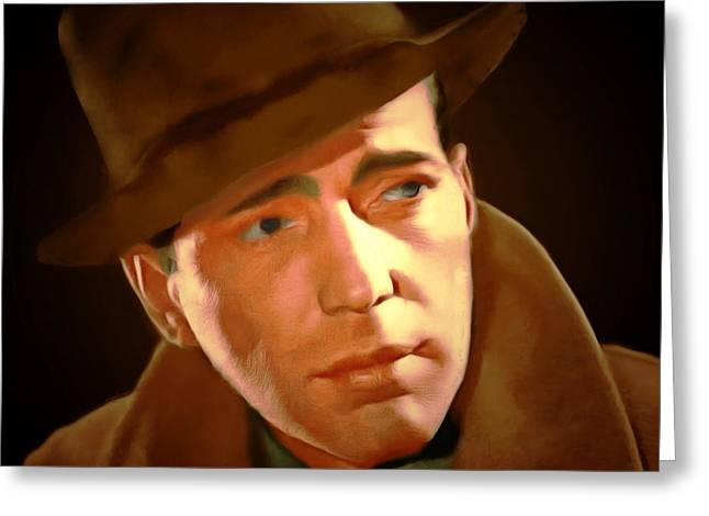 Humphrey Bogart 20150307 Square Greeting Card by Wingsdomain Art and Photography