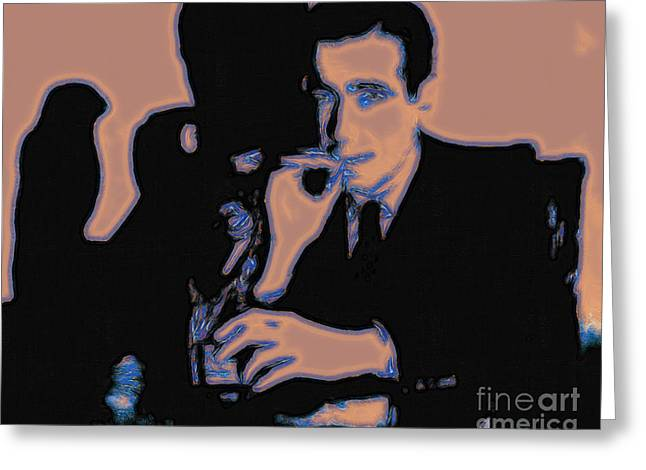 Humphrey Bogart And The Maltese Falcon 20130323m88 Greeting Card by Wingsdomain Art and Photography