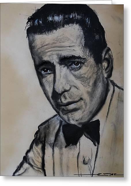 Humphrey Deforest Bogart -1  Greeting Card by Eric Dee