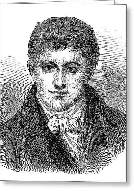 Humphry Davy Greeting Card by Science Photo Library