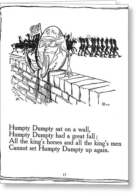 Humpty Dumpty, 1913 Greeting Card by Granger