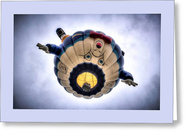 Humpty Dumpty Hot Air Balloon Greeting Card