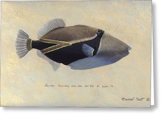 Humu Humu Nuku Nuku Apu'a Greeting Card by Randall Scott