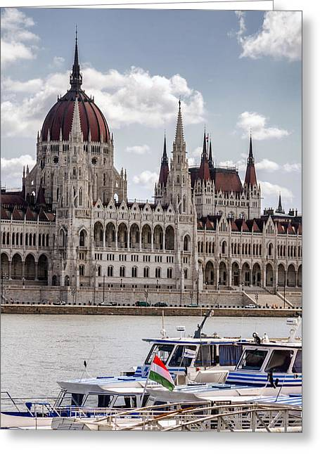 Hungarian Parliament Across The Danube Greeting Card