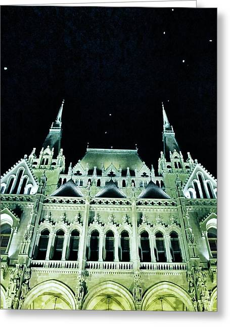 Hungarian Parliament Building - Budapest Greeting Card by Marianna Mills