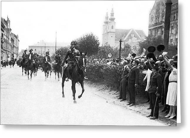Hungarians Protest Trianon Greeting Card by Underwood Archives