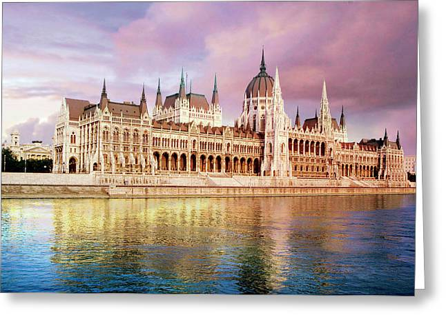 Hungary, Budapest, View Greeting Card by Miva Stock