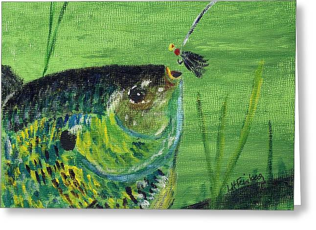 Hungry Bluegill Greeting Card