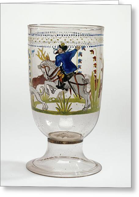 Hunt Goblet Unknown Czech Republic, Bohemia Greeting Card by Litz Collection