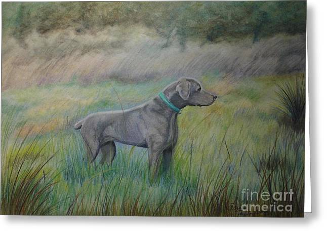 Hunter Greeting Card by Laurianna Taylor