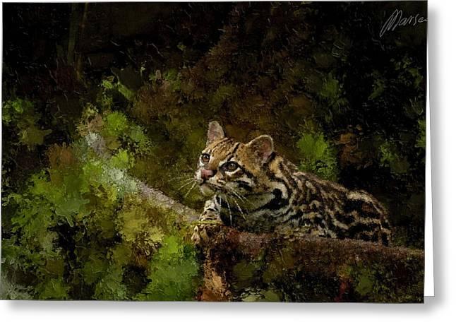 Hunter Greeting Card by Marina Likholat