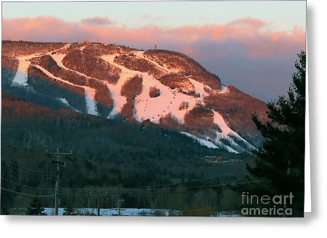 Hunter Mountain Morning Greeting Card