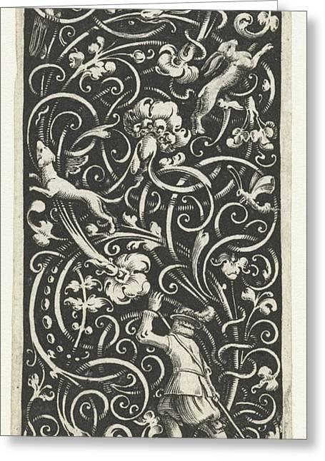 Hunter With Long Stick, Bartholomew Of Lochom Greeting Card by Bartholomew Of Lochom And Frederik De Wit