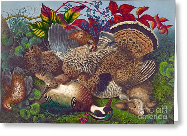 Hunters Harvest 1866 Greeting Card