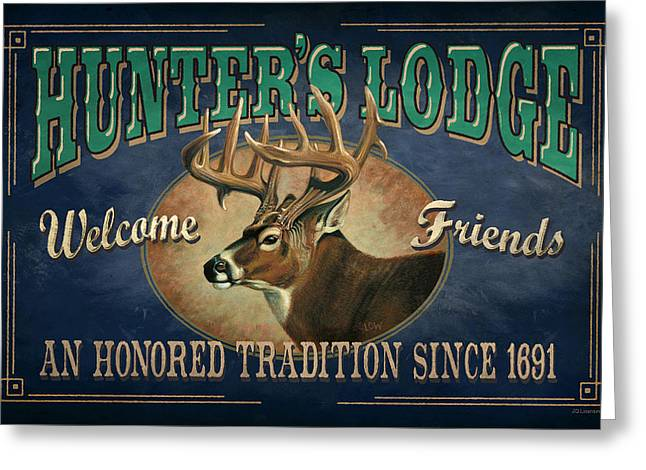 Hunters Lodge Deer Greeting Card by JQ Licensing