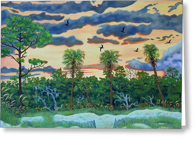 Hunting Island - 2 Greeting Card by Dwain Ray