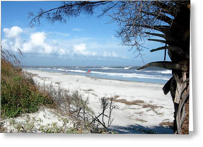 Greeting Card featuring the photograph Hunting Island -8 by Ellen Tully