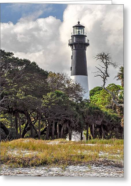Hunting Island Lighthouse Greeting Card by Donnie Smith