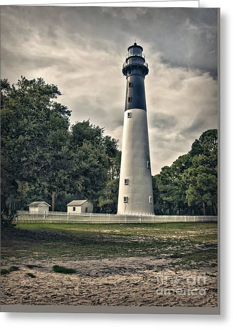 Hunting Island Lighthouse Greeting Card by Linda Blair