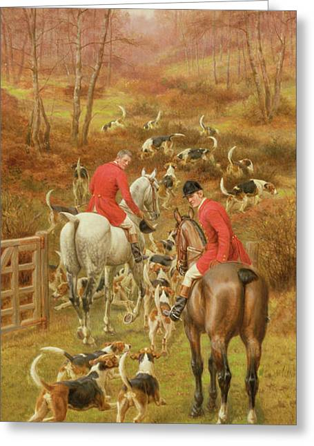 Hunting Scene, 1906 Greeting Card