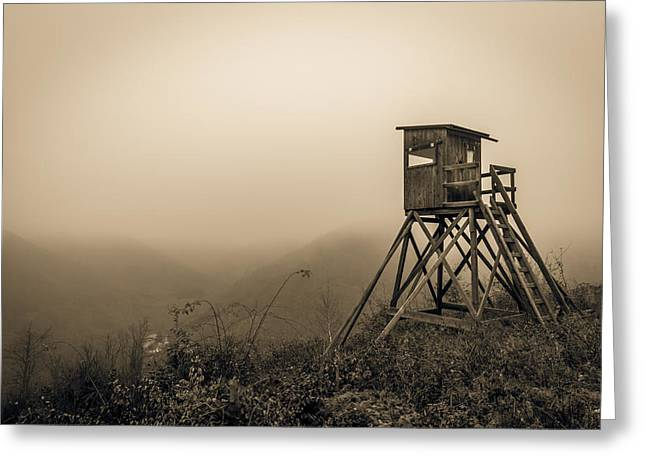 Hunting Tower Greeting Card by Mah FineArt