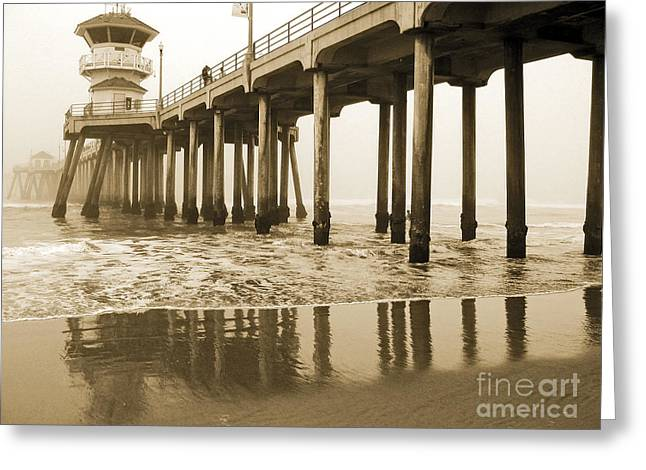 Huntington Beach Pier - Vintage Greeting Card