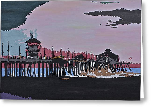 Huntington Beach Pier 1 Greeting Card