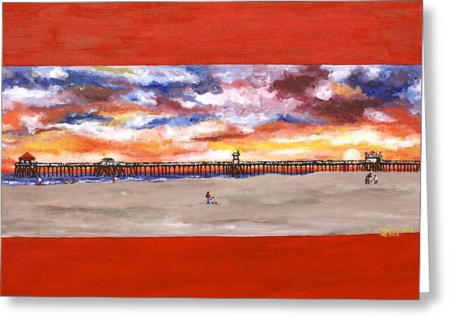 Huntington Beach Pier 3 Greeting Card