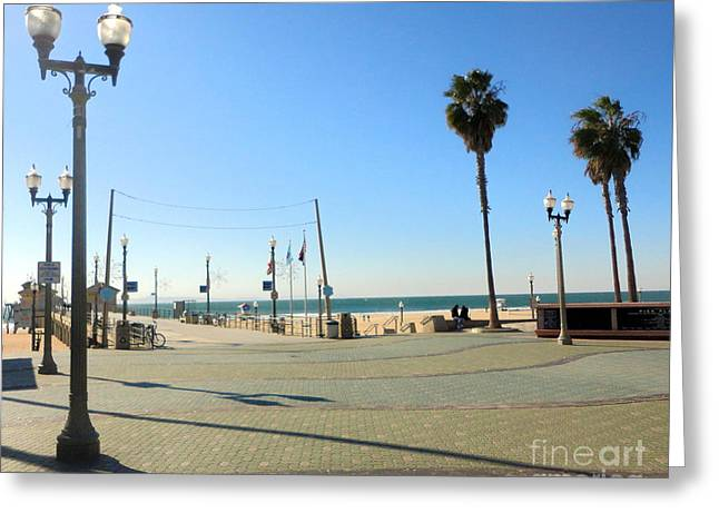 Huntington Beach Pier Greeting Card