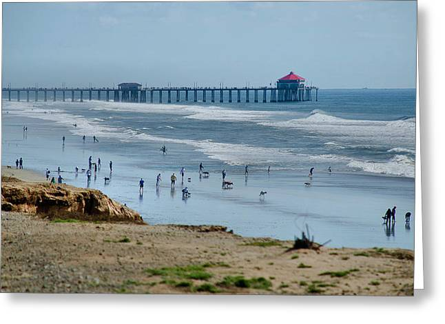 Greeting Card featuring the photograph Huntington Beach Pier by Joseph Hollingsworth