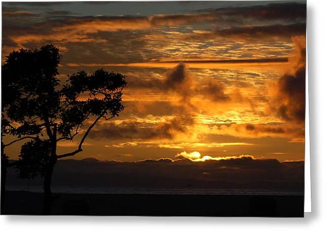 Huntington Beach Sunset Greeting Card by Matt Harang