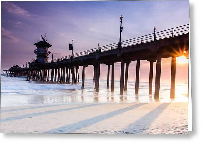 Huntington Pier Greeting Card