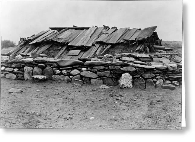 Hupa Sweat Lodge, C1923 Greeting Card